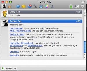 Track #agile conversation using IM via twitterspy@jabber.org
